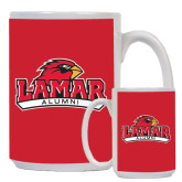 Alumni Full Color White Mug 15oz-Lamar University w/Cardinal Head