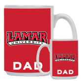 Dad Full Color White Mug 15oz-Lamar University