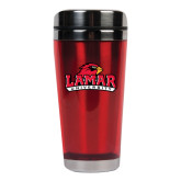 Solano Acrylic Red Tumbler 16oz-Lamar University w/Cardinal Head