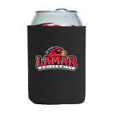 Collapsible Black Can Holder-Lamar University w/Cardinal Head
