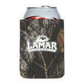 Collapsible Mossy Oak Camo Can Holder-Lamar University w/Cardinal Head