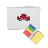 Micro Sticky Book-Lamar University w/Cardinal Head