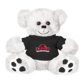 Plush Big Paw 8 1/2 inch White Bear w/Black Shirt-Primary Mark