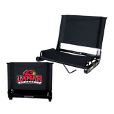 Stadium Chair Black-Lamar University w/Cardinal Head