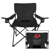 Deluxe Black Captains Chair-Cardinal Head