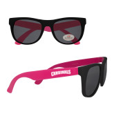 Black/Hot Pink Sunglasses-Cardinals