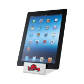 Zoom White Tablet Stand-Lamar University w/Cardinal Head