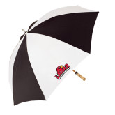 Black/White Umbrella-Lamar University w/Cardinal Head