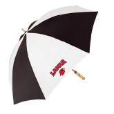 Black/White Umbrella-Lamar w/Cardinal Head