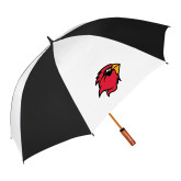 62 Inch Black/White Umbrella-Cardinal Head