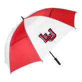 62 Inch Red/White Vented Umbrella-Interlocking LU