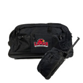 Urban Passage Wheeled Black Duffel-Lamar University w/Cardinal Head