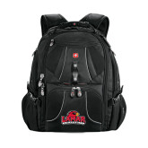 Wenger Mega Black Compu Backpack-Lamar University w/Cardinal Head