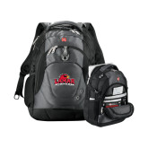 Wenger Tech Charcoal Compu Backpack-Lamar University w/Cardinal Head