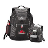 High Sierra Big Wig Black Compu Backpack-Lamar University w/Cardinal Head