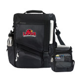 Momentum Black Computer Messenger Bag-Lamar University w/Cardinal Head