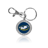 Crystal Studded Round Key Chain-Mascot