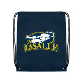 Navy Drawstring Backpack-La Salle