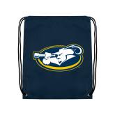 Navy Drawstring Backpack-Mascot