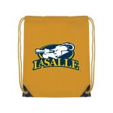 Gold Drawstring Backpack-La Salle