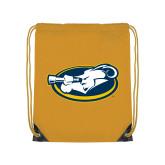 Gold Drawstring Backpack-Mascot