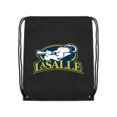 Black Drawstring Backpack-La Salle