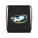 Black Drawstring Backpack-Mascot