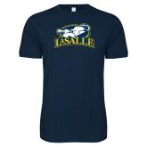 Next Level SoftStyle Navy T Shirt-La Salle