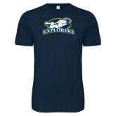 Next Level SoftStyle Navy T Shirt-Explorers