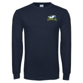 Navy Long Sleeve T Shirt-La Salle