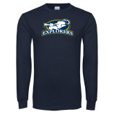 Navy Long Sleeve T Shirt-Explorers