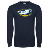 Navy Long Sleeve T Shirt-Mascot