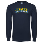 Navy Long Sleeve T Shirt-La Salle Explorers