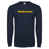 Navy Long Sleeve T Shirt-Go Explorers