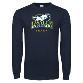 Navy Long Sleeve T Shirt-Track & Field