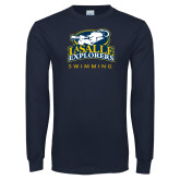 Navy Long Sleeve T Shirt-Swim & Dive