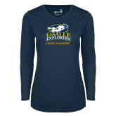 Ladies Syntrel Performance Navy Longsleeve Shirt-Cross Country