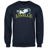 Navy Fleece Crew-La Salle