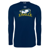 Under Armour Navy Long Sleeve Tech Tee-La Salle