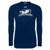Under Armour Navy Long Sleeve Tech Tee-Explorers