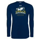 Under Armour Navy Long Sleeve Tech Tee-Soccer