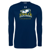 Under Armour Navy Long Sleeve Tech Tee-Lacrosse