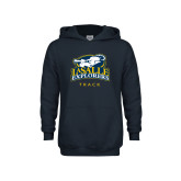 Youth Navy Fleece Hoodie-Track & Field