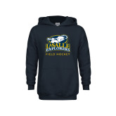 Youth Navy Fleece Hoodie-Field Hockey