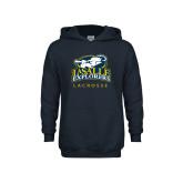 Youth Navy Fleece Hoodie-Lacrosse