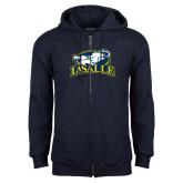 Navy Fleece Full Zip Hoodie-La Salle