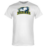 White T Shirt-La Salle