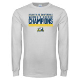 White Long Sleeve T Shirt-2017 Womens Soccer Champions Stacked