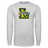 White Long Sleeve T Shirt-La Salle L