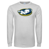 White Long Sleeve T Shirt-Mascot